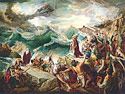 Moses and the Exodus from Egypt- Biblical art Giclee print on canvas