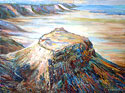 Massada - Landscape Fine art Giclee print on canvas