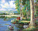 Lake - Landscape Fine art Giclee print on canvas
