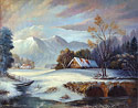 Winter - Landscape Fine art Giclee print on canvas