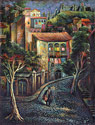 Old Tbilisi - Narikhala - Landscape Fine art Giclee print on canvas