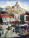 Old Tbilisi - Landscape Fine art Giclee print on canvas
