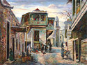 Old Tbilisi, Georgia - Landscape Fine art Giclee print on canvas