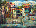 Old Tbilisi,Georgia - Landscape Fine art Giclee print on canvas