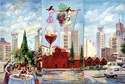 Locations - Old & New Locations in Rishon Le Zion, Israel - Landscape Fine art Giclee print on canvas